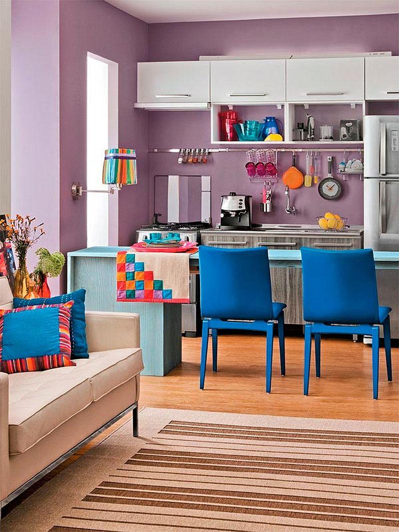 adelaparvu.com despre bucatarii mici, bucatarii colorate (9)