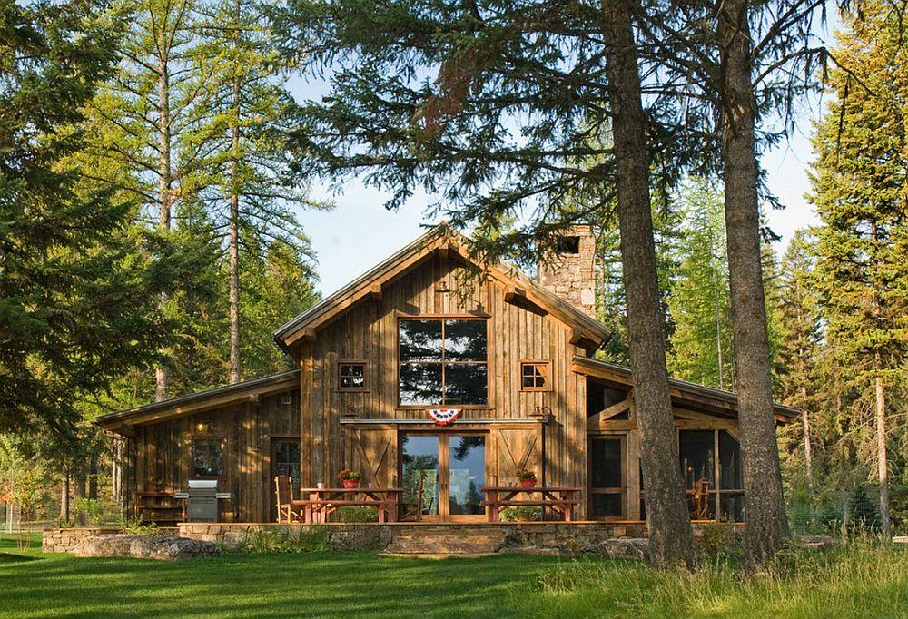 adelaparvu.com despre cabana din lemn vechi recuperat, cabana Swan Valley, Montana, RMT Architects (1)