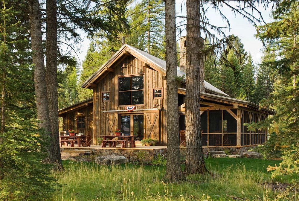 adelaparvu.com despre cabana din lemn vechi recuperat, cabana Swan Valley, Montana, RMT Architects (11)