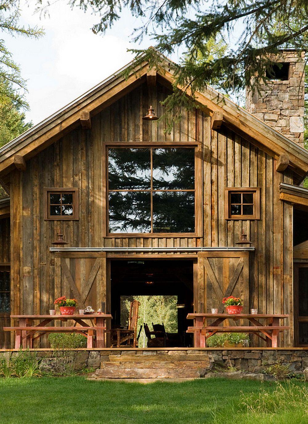 adelaparvu.com despre cabana din lemn vechi recuperat, cabana Swan Valley, Montana, RMT Architects (13)