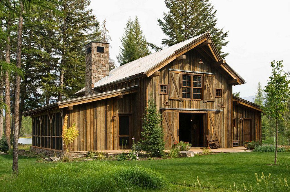 adelaparvu.com despre cabana din lemn vechi recuperat, cabana Swan Valley, Montana, RMT Architects (15)