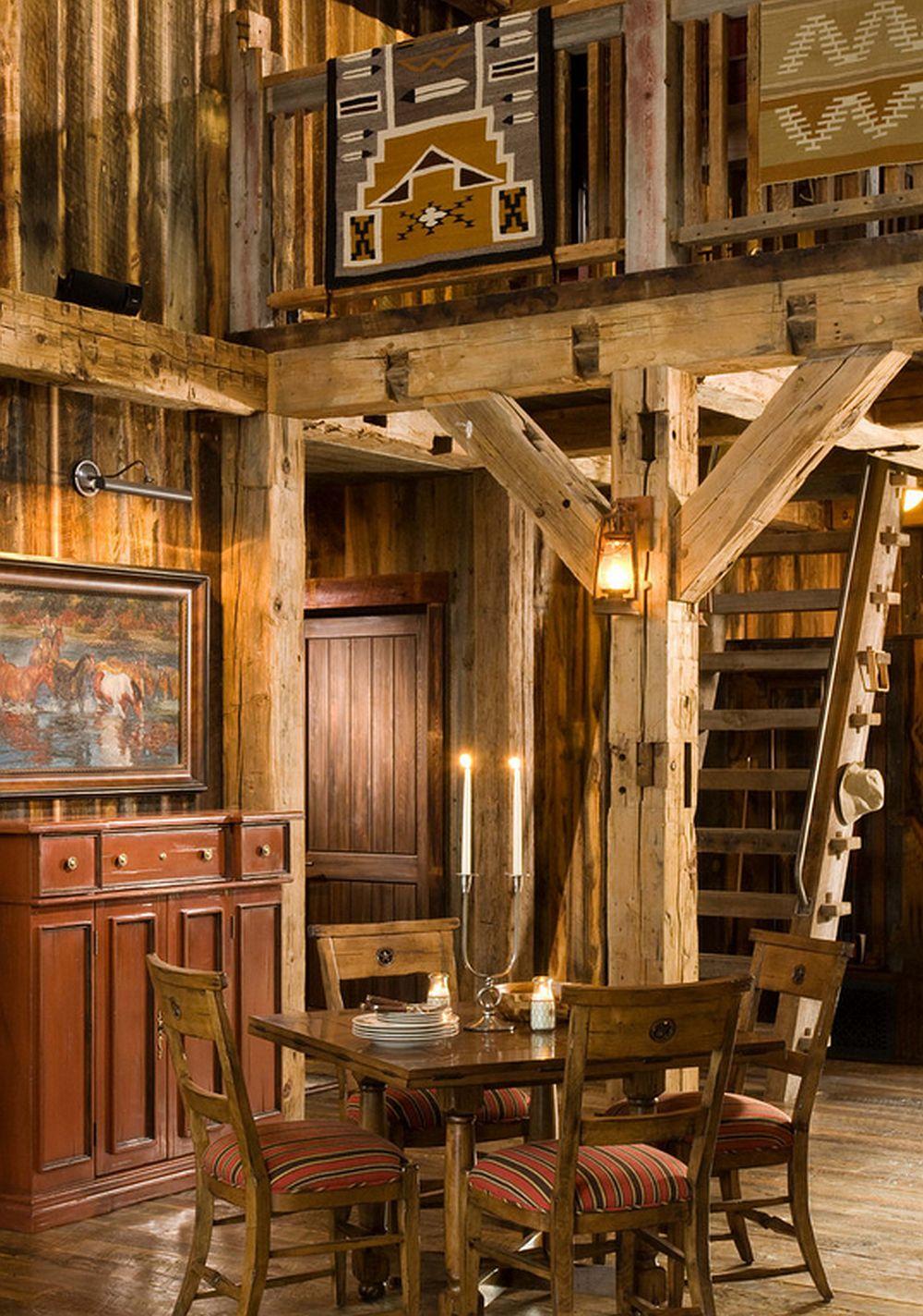 adelaparvu.com despre cabana din lemn vechi recuperat, cabana Swan Valley, Montana, RMT Architects (16)