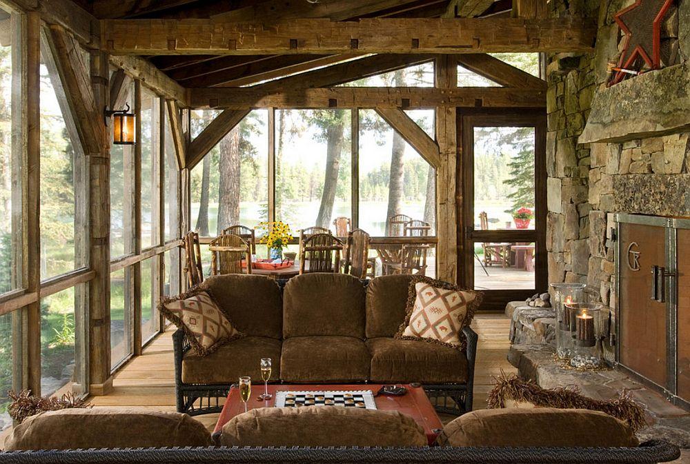 adelaparvu.com despre cabana din lemn vechi recuperat, cabana Swan Valley, Montana, RMT Architects (18)