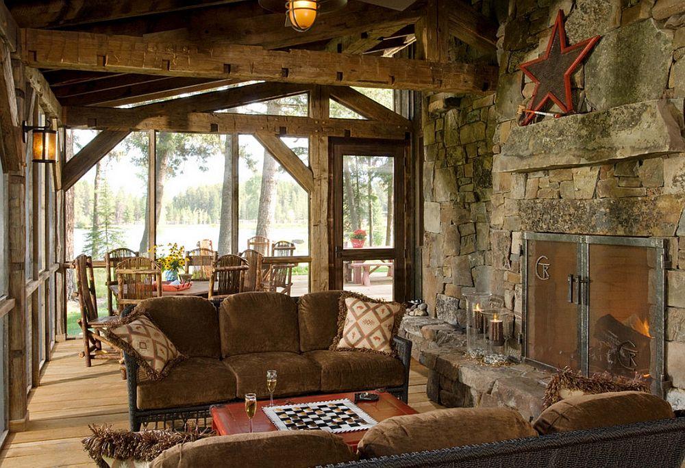 adelaparvu.com despre cabana din lemn vechi recuperat, cabana Swan Valley, Montana, RMT Architects (19)
