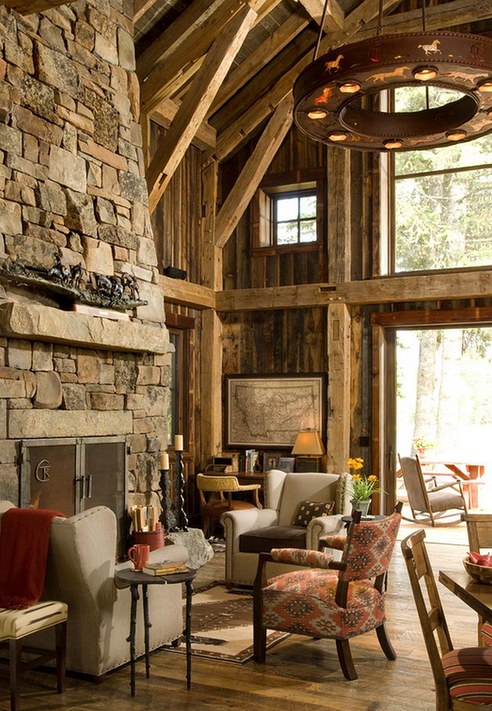 adelaparvu.com despre cabana din lemn vechi recuperat, cabana Swan Valley, Montana, RMT Architects (20)