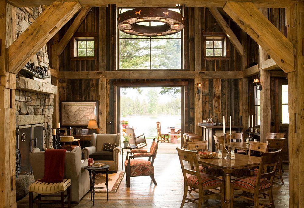 adelaparvu.com despre cabana din lemn vechi recuperat, cabana Swan Valley, Montana, RMT Architects (21)