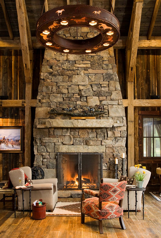 adelaparvu.com despre cabana din lemn vechi recuperat, cabana Swan Valley, Montana, RMT Architects (22)