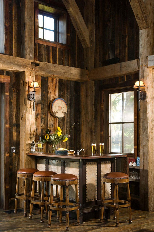 adelaparvu.com despre cabana din lemn vechi recuperat, cabana Swan Valley, Montana, RMT Architects (4)