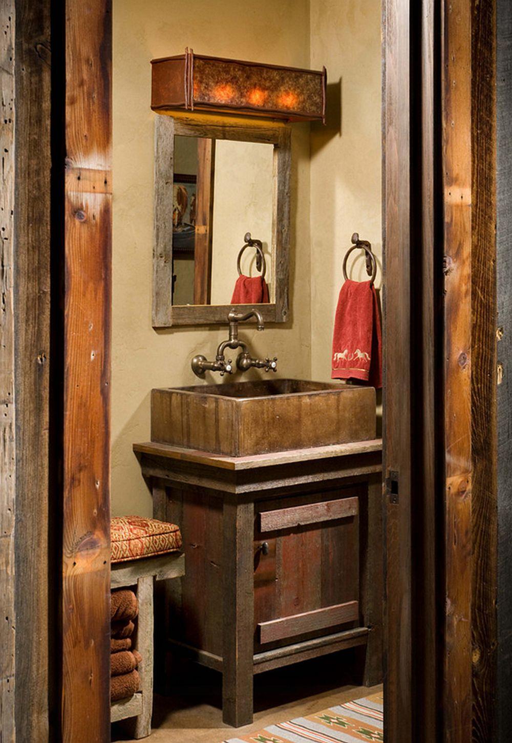 adelaparvu.com despre cabana din lemn vechi recuperat, cabana Swan Valley, Montana, RMT Architects (5)