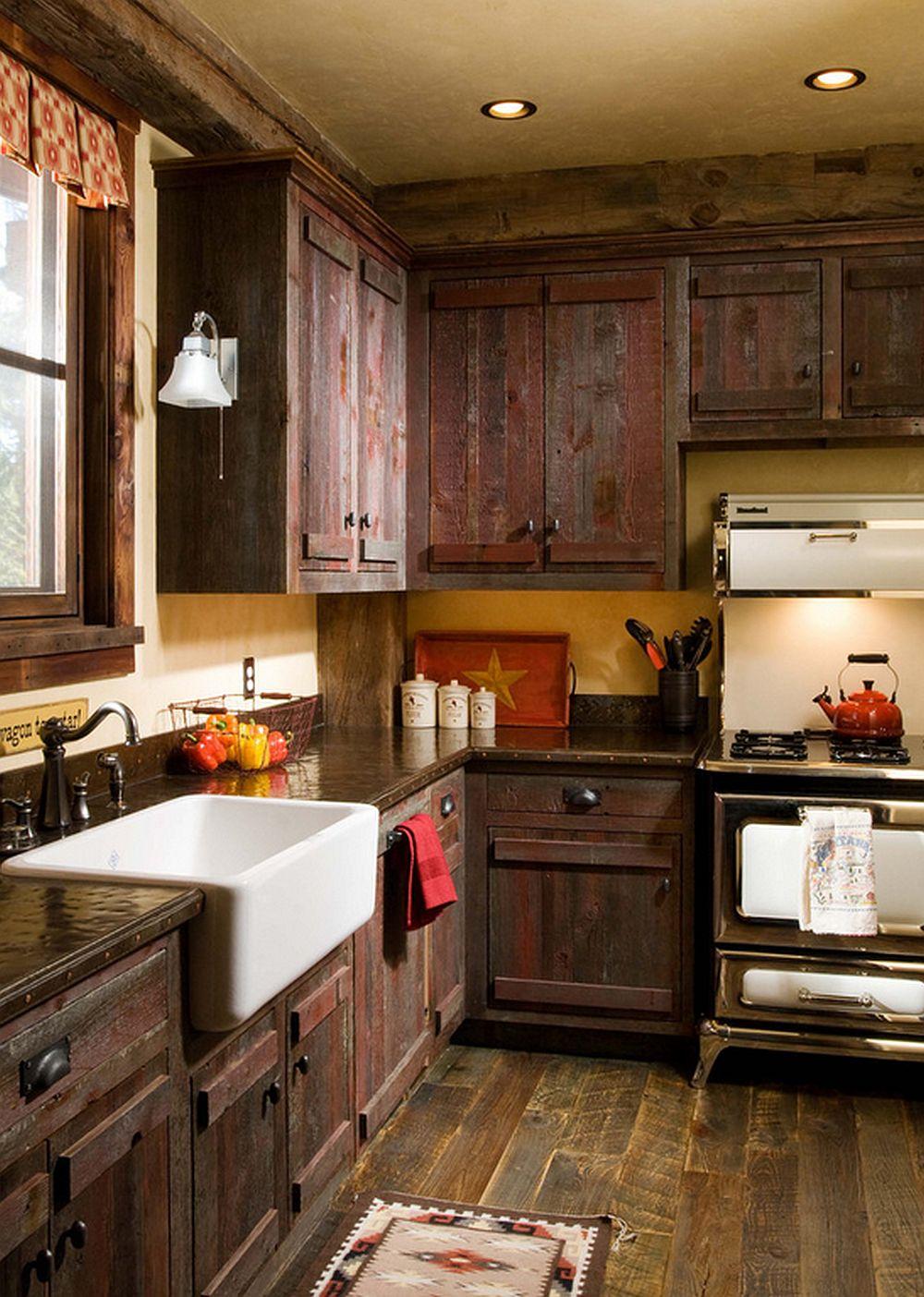 adelaparvu.com despre cabana din lemn vechi recuperat, cabana Swan Valley, Montana, RMT Architects (6)