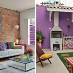 adelaparvu.com despre casa colorata cu terasa si gratar, casa lunga si ingusta, designer Ana Maria Mouawad Queiroga