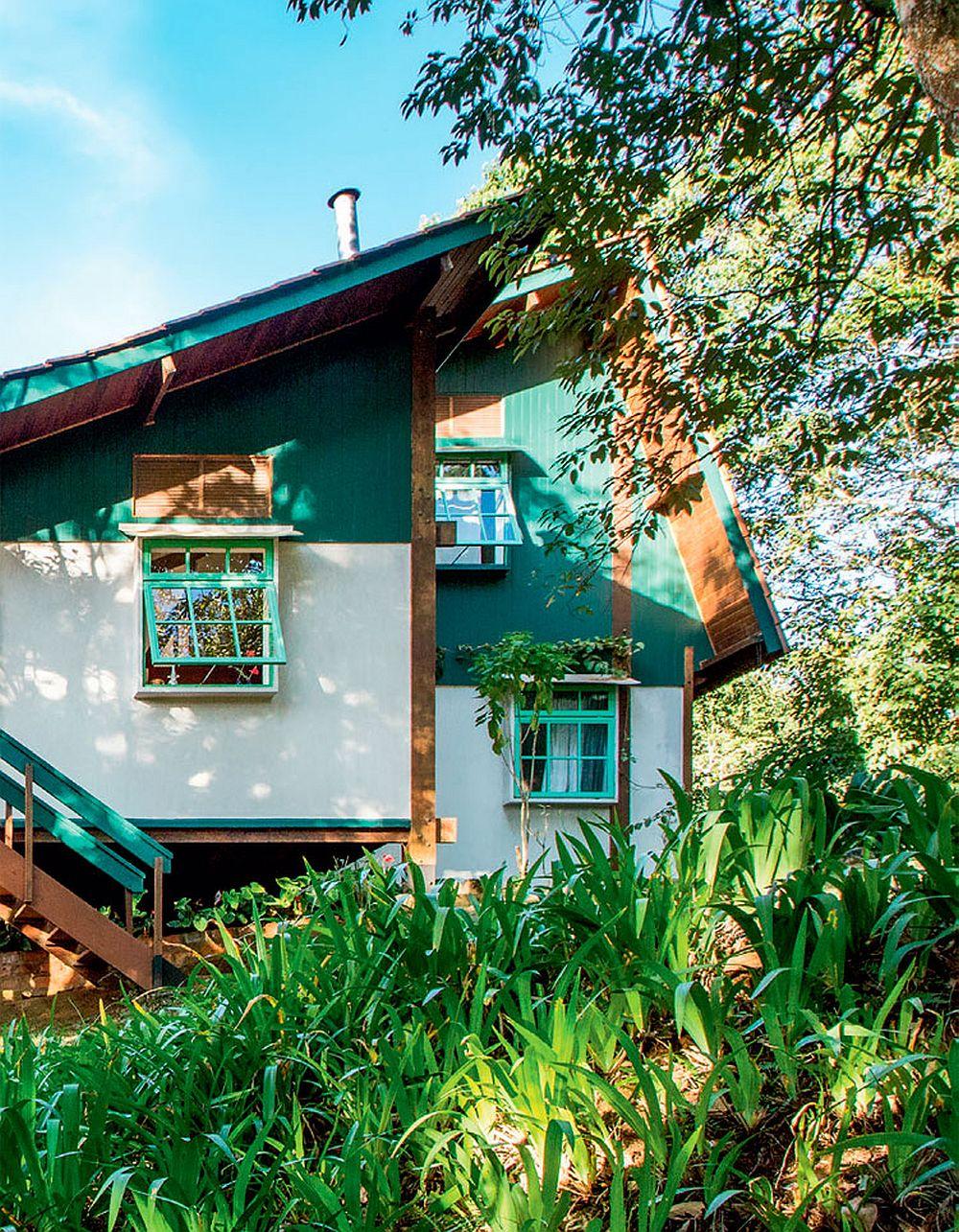 adelaparvu.com despre casa de vacanta cu ferestre turcoaz, casa din prefabricate, arh Sergio Rodiquez (11)