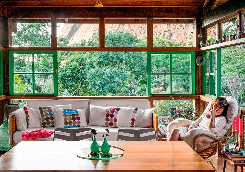 adelaparvu.com despre casa de vacanta cu ferestre turcoaz, casa din prefabricate, arh Sergio Rodiquez (3)