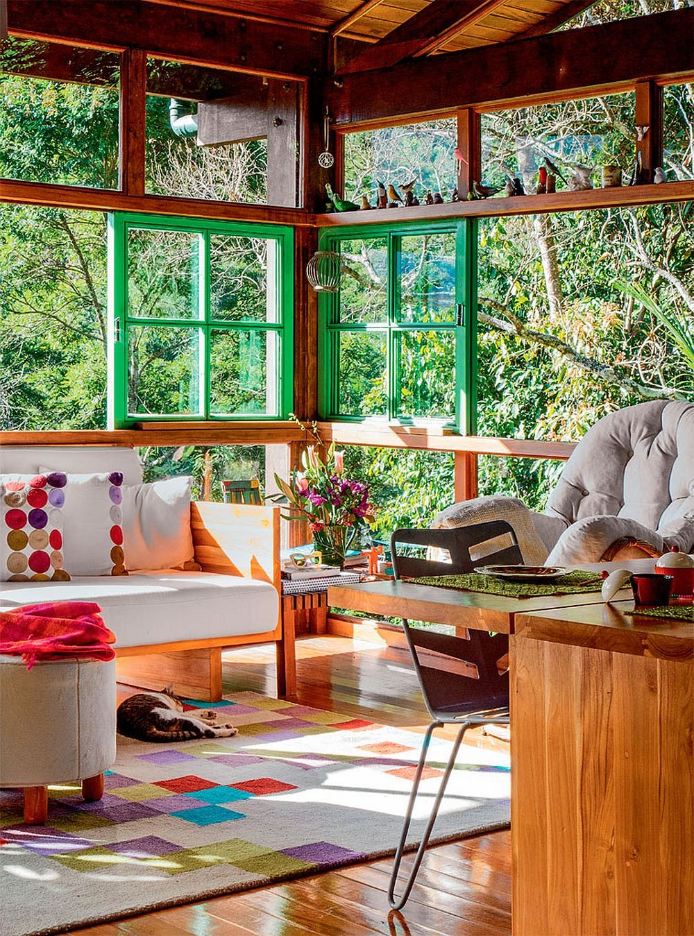 adelaparvu.com despre casa de vacanta cu ferestre turcoaz, casa din prefabricate, arh Sergio Rodiquez (5)