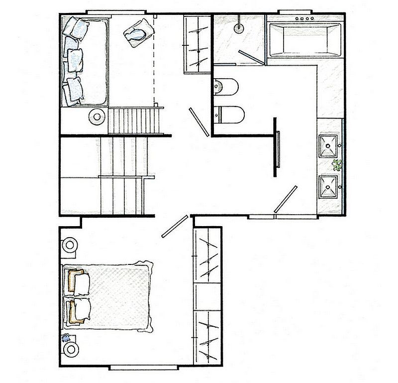 adelaparvu.com despre casa mica de 70 mp, casa Spania Costa Brava, design interior Asun Anto (1)