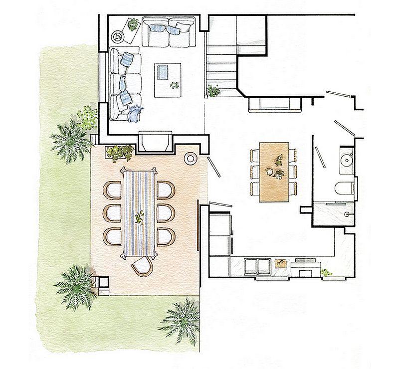 adelaparvu.com despre casa mica de 70 mp, casa Spania Costa Brava, design interior Asun Anto (2)