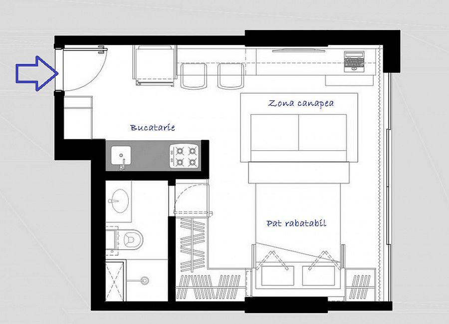 adelaparvu.com despre garsoniera de 30 mp, design BEP Arquitetos (6)