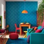 adelaparvu.com despre living mic si colorat, design Adriana Yazbek, Foto Minha Casa (5)