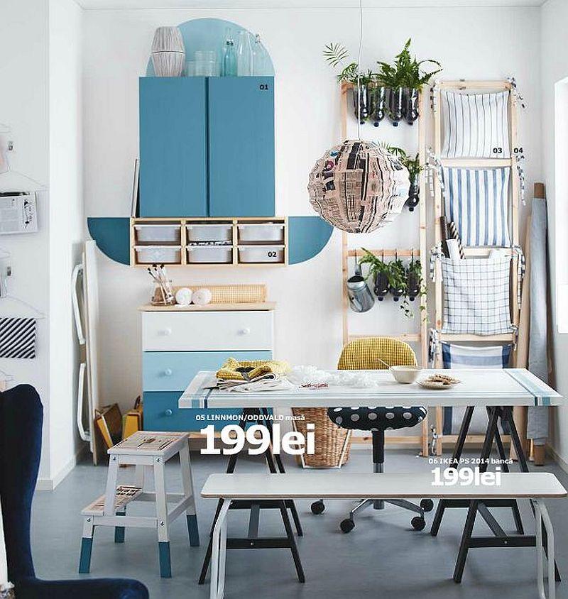 adelaparvu.com despre masa Linnmon 199 lei, piese ieftine si bune de la IKEA, colectia 2015