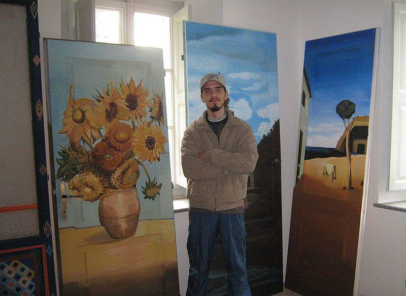 adelaparvu.com despre usi pictate, artist Andrei Radu (2)
