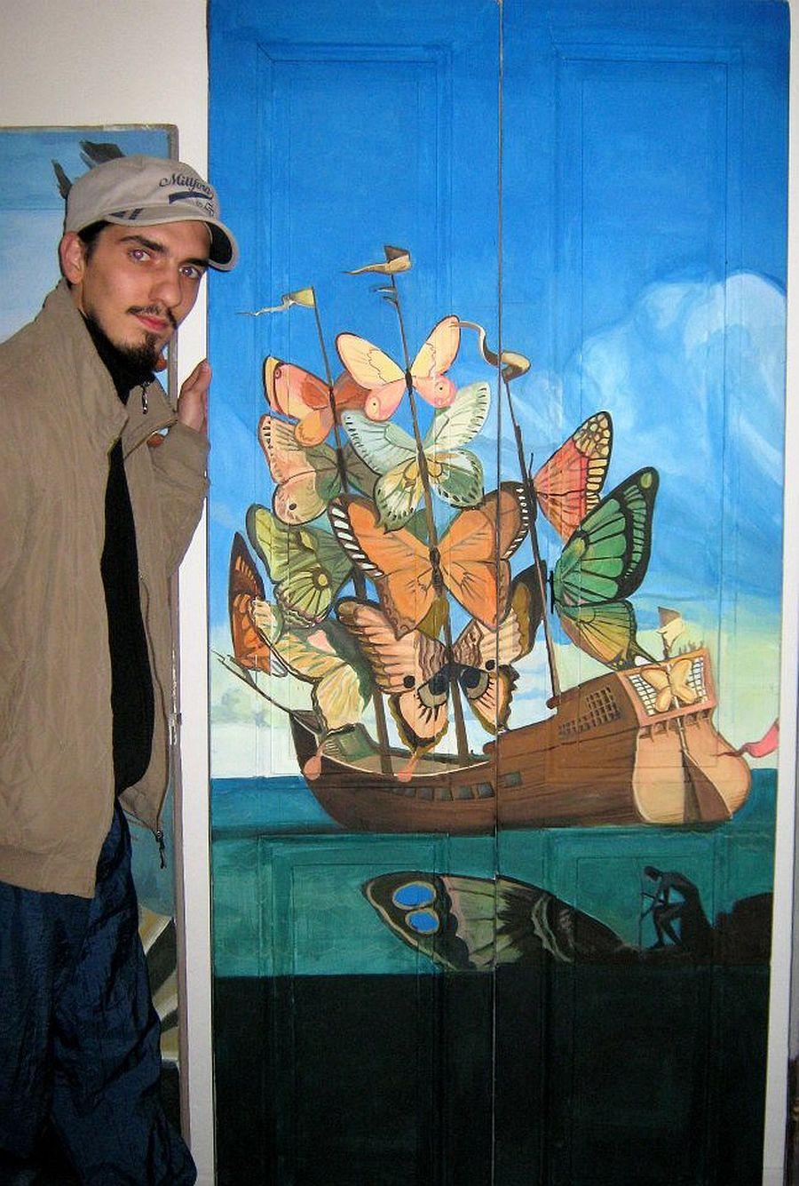 adelaparvu.com despre usi pictate, artist Andrei Radu (4)