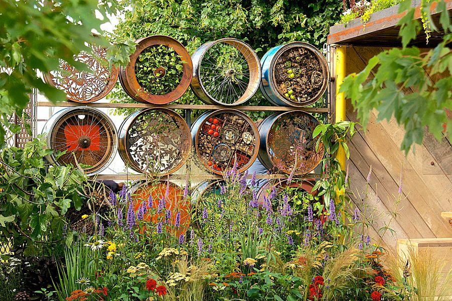 adelaparvu.com despre Gradina cu materiale reciclate, designeri Jeni Cairns, Sophie Antonelli, RHS Hampton Court Flower Show 2014 (2)