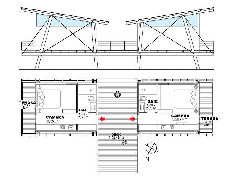 adelaparvu.com despre casa de vacanta duplex pe un teren in panta, arhitect Andre Eisenlohr  (8)