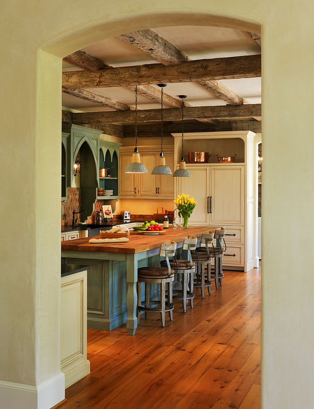 adelaparvu.com despre casa in stil rustic francez, proiect Barnes Vanze Architects, Foto Anice Hoachlander  (7)