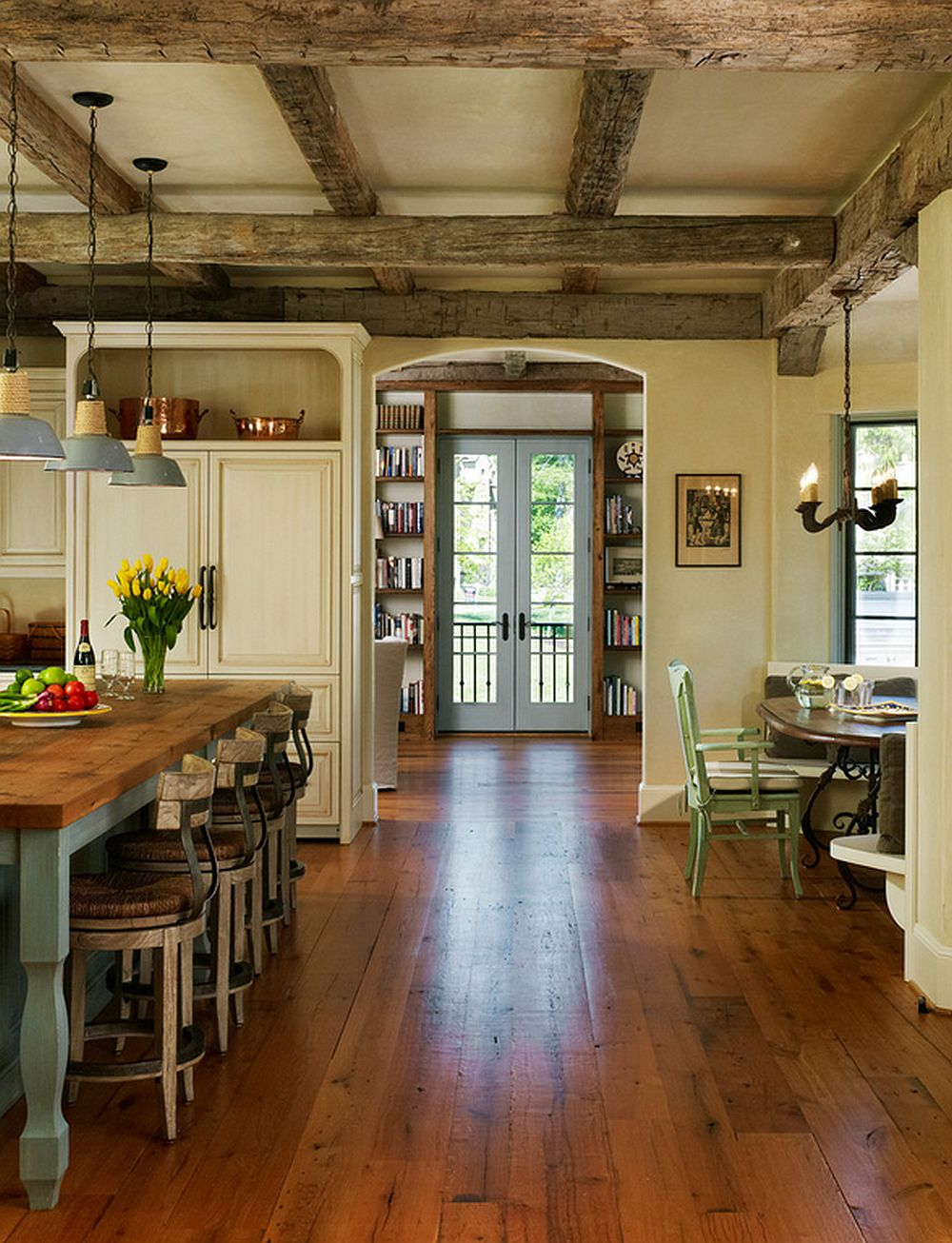 adelaparvu.com despre casa in stil rustic francez, proiect Barnes Vanze Architects, Foto Anice Hoachlander  (9)