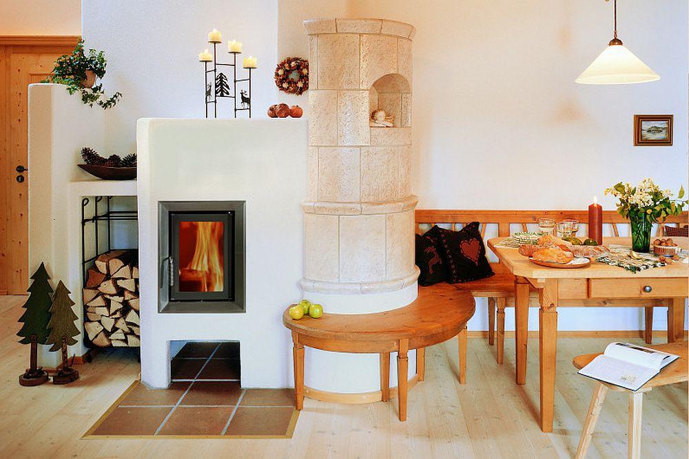 adelaparvu.com despre mobilier in jurul sobelor de teracota, banci pentru sobele de teracota (1)