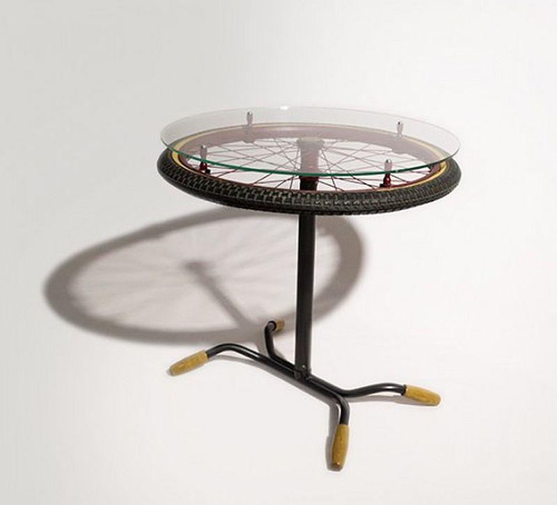Masa bicicleta rearanjata, designer Alex Sararu