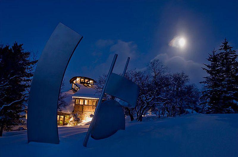 adelaparvu.com despre casa circulara in Aspen, casa SUA, foto NYT, Michael Brands (4)