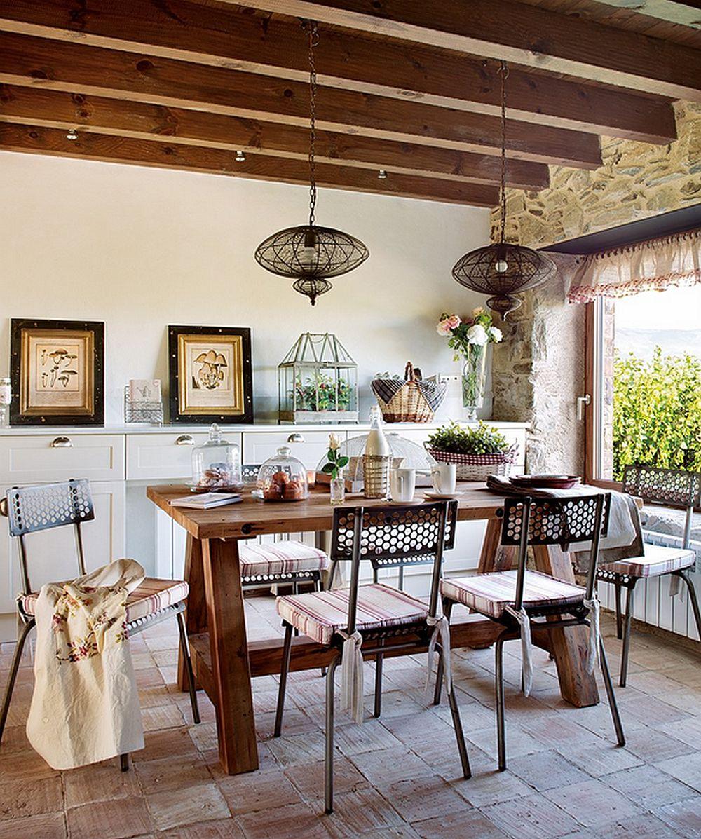adelaparvu.com despre casa rustica cu elemente industriale, design interior Elena Lopez Balselles, Foto ElMueble (11)