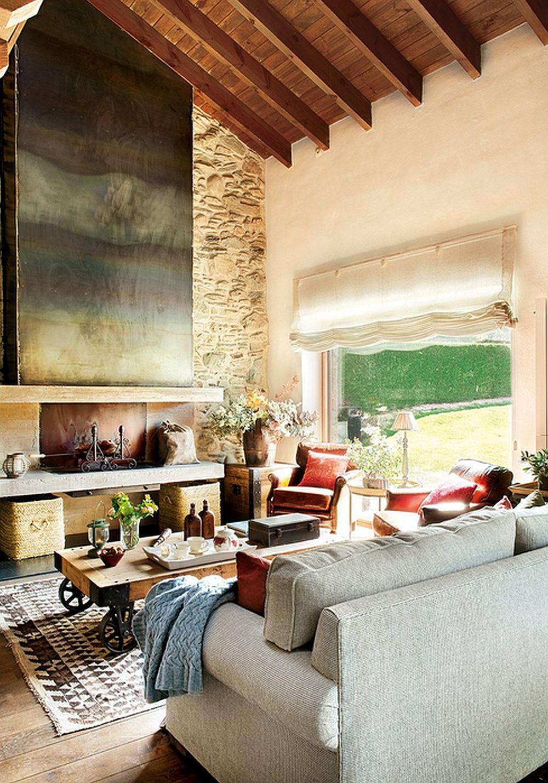 adelaparvu.com despre casa rustica cu elemente industriale, design interior Elena Lopez Balselles, Foto ElMueble (5)
