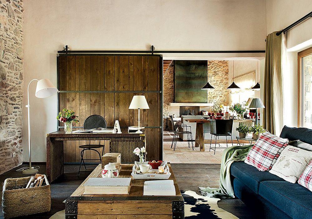 adelaparvu.com despre casa rustica cu elemente industriale, design interior Elena Lopez Balselles, Foto ElMueble (7)