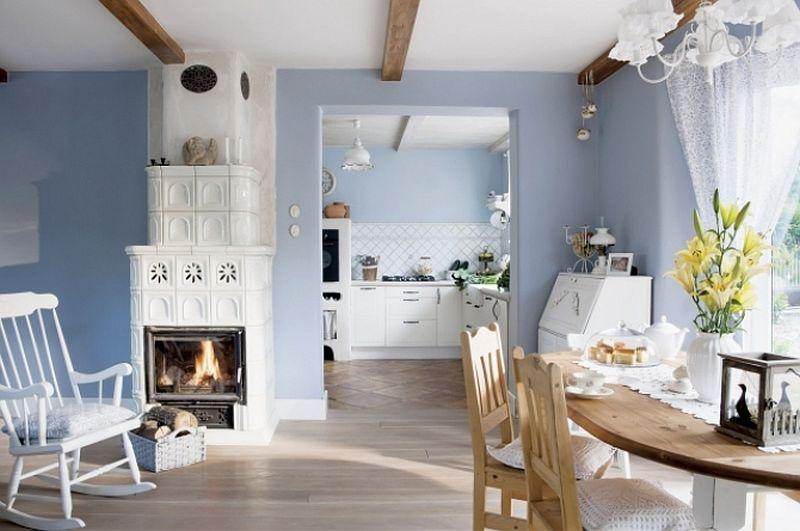 adelaparvu.com despre casa rustica cu interior alb si albastru, Casa Polonia, Foto Rafal Lipski (2)