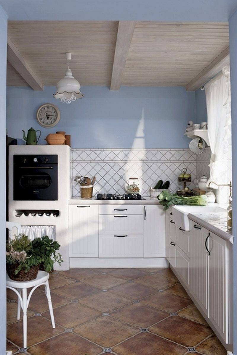 adelaparvu.com despre casa rustica cu interior alb si albastru, Casa Polonia, Foto Rafal Lipski (4)