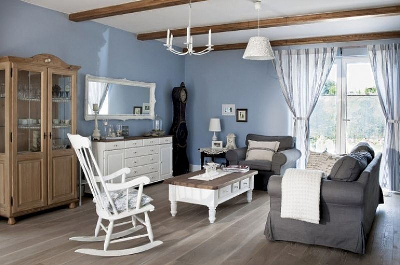 adelaparvu.com despre casa rustica cu interior alb si albastru, Casa Polonia, Foto Rafal Lipski (7)