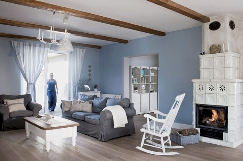 adelaparvu.com despre casa rustica cu interior alb si albastru, Casa Polonia, Foto Rafal Lipski (9)