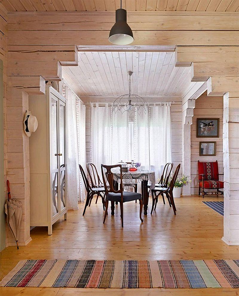 adelaparvu.com despre casa rustica de lemn, design interior  Julia Golavskaya, casa Rusia, foto AD (3)