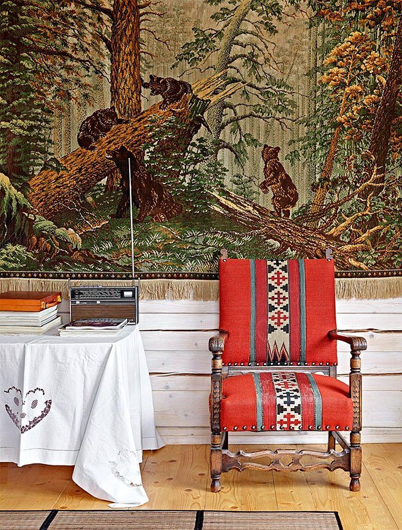 adelaparvu.com despre casa rustica de lemn, design interior  Julia Golavskaya, casa Rusia, foto AD (6)