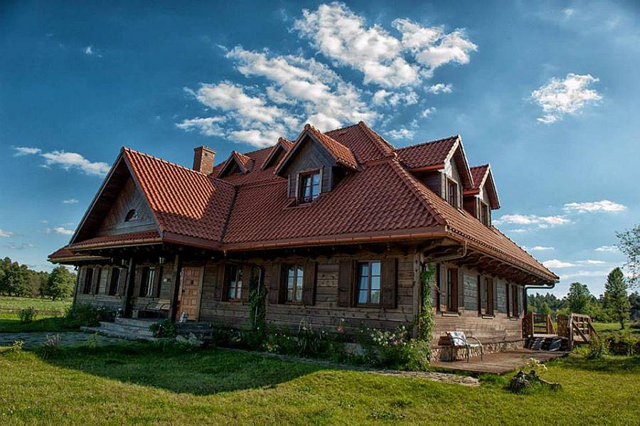 adelaparvu.com despre casa rustica din lemn cu interior clasic, casa Polonia, pensiune Stanica Rzeczna (36)