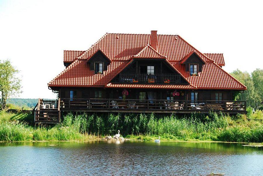 adelaparvu.com despre casa rustica din lemn cu interior clasic, casa Polonia, pensiune Stanica Rzeczna (41)