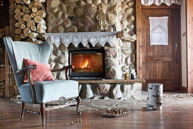 adelaparvu.com despre casa rustica din lemn cu interior clasic, casa Polonia, pensiune Stanica Rzeczna (9)