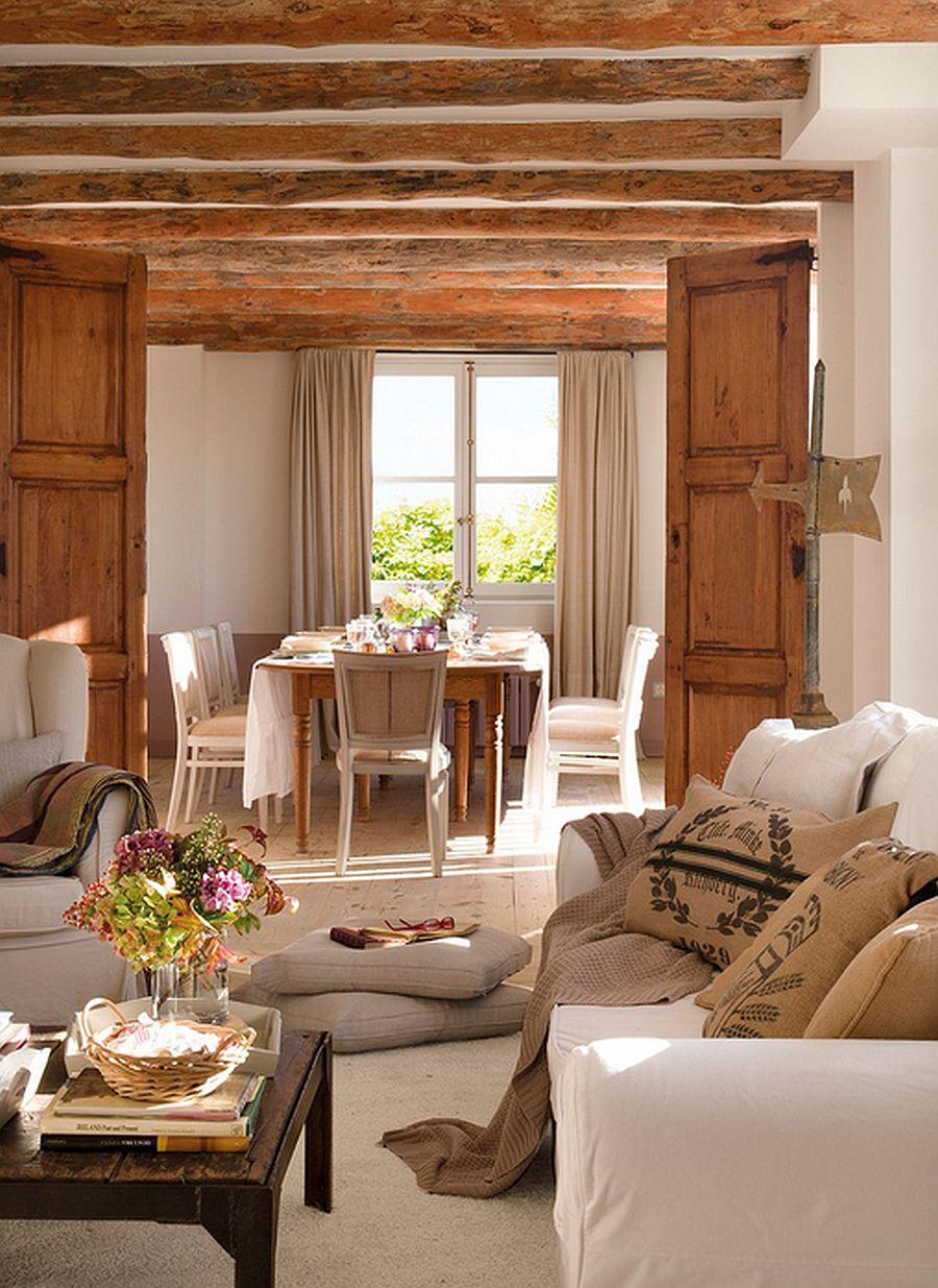 adelaparvu.com despre casa rustica din piatra, casa Spania, Cantabria, Foto ElMueble (7)