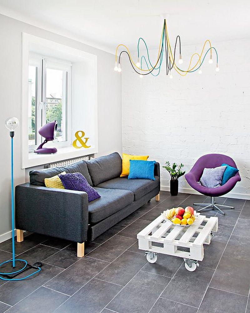 adelaparvu.com despre garsoniera colorata si moderna, design interior Maja Zalewska si Marek Kostykiewicz (2)