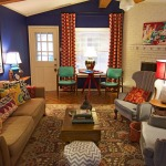 adelaparvu.com despre living colorat in stil eclectic, decorator artista Sarah Greenman (1)