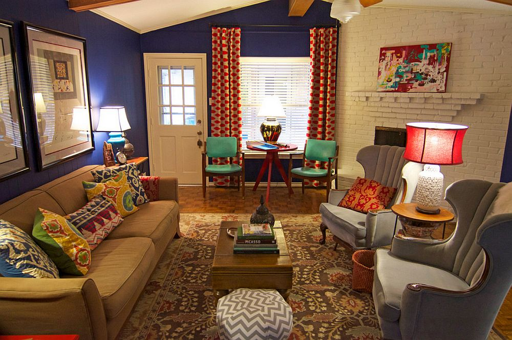 adelaparvu.com despre living colorat in stil eclectic, decorator artista Sarah Greenman (1)