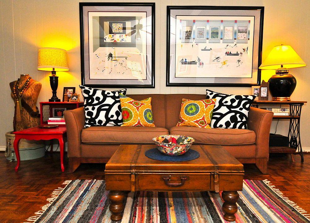 adelaparvu.com despre living colorat in stil eclectic, decorator artista Sarah Greenman (11)