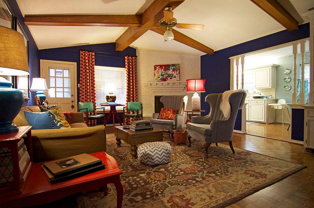 adelaparvu.com despre living colorat in stil eclectic, decorator artista Sarah Greenman (3)